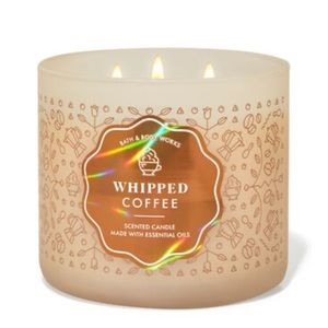 BATH & BODY WORKS WHIPPED COFFEE 3-WICK CANDLE